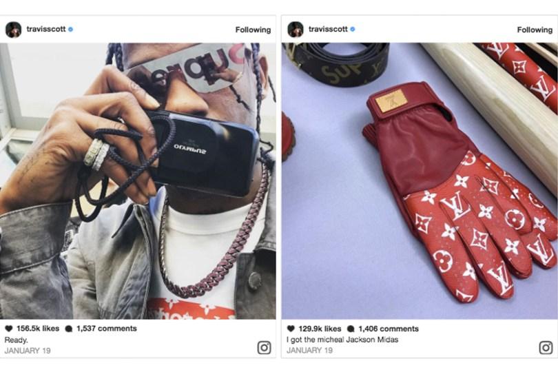travis scott louis vuitton instagram
