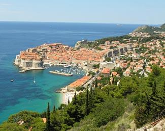 Dubrovnik, Croatia, where we spend two nights.