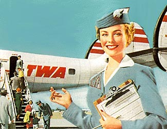 The golden age of flight - and of flight attendants, or air hostesses as they more positively used to be termed.