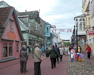 A very Scandinavian looking street scene in Parnu, Estonia.  We visit on day 18.