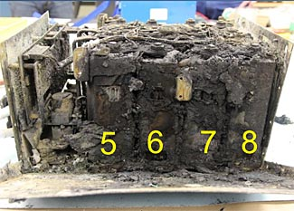 Cell 6 was where the JAL 787 battery fire (in Boston) started.  Boeing said that there was no possibility of a problem with one cell spreading to any of the other cells in the battery.  What do you think?