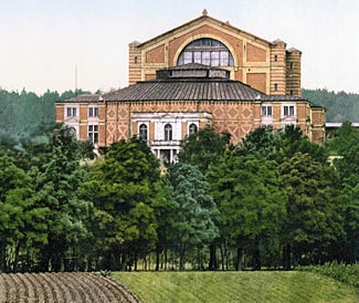 Wagner's 'Festival House' in Bayreuth, picture taken in 1895.