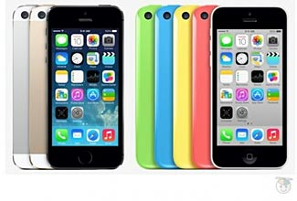 Is Apple now reduced to selling its iPhones on the basis of pretty colors and nothing much else?  (Pic: Geek.com)