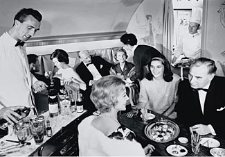 This 1958 Lufthansa picture hints at the Golden Age of airline food (and drink).