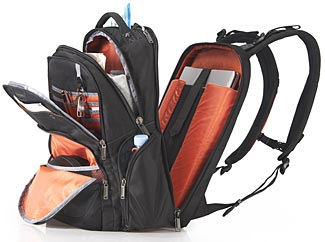 As can be seen, the Everki Atlast backpack has a lot of different storage compartments.