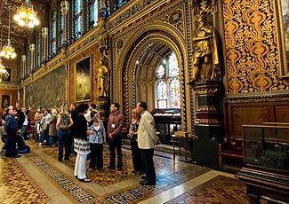 The inside of the 'Palace of Westminster' - ie Houses of Parliament.