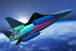 An Airbus project for a zero emission supersonic jet traveling at Mach 4 - twice the speed of Concorde.
