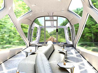 A new luxurious train, to start service in Japan in 2017.
