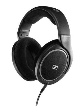 The Sennheiser HD 558 headphones look slightly more traditional than their HD 598 siblings.