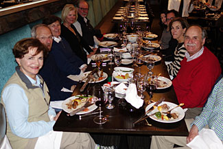 Some of the group at our opening night's dinner in Auckland, NZ
