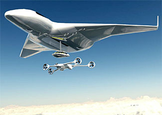 A futuristic new airplane concept (see article below)