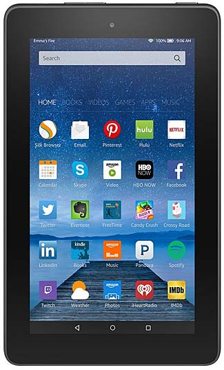 The lovely new Amazon tablet, with an even lovelier price.