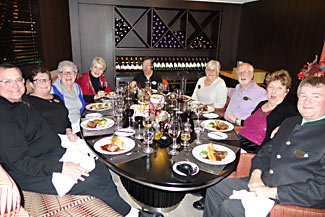 One of our group dinners, in a private dining room on the Amacerto, during our Christmas Markets cruise last week.