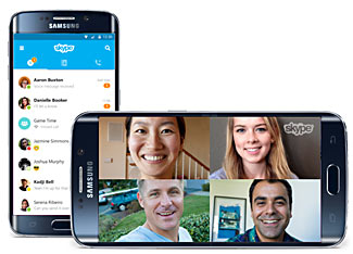 Skype voice and video calls are available on smart phones, tablets, and regular computers.