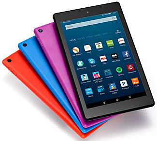 The lovely new HD 8 Fire tablet, for only $89.99, comes in four different colors.