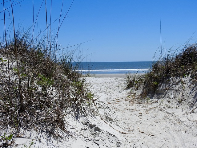 beach access to a sandy beach in the outer banks