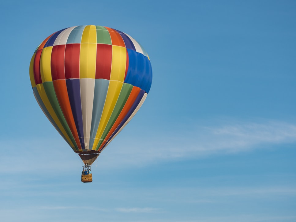 Riding in a hot air balloon, part of New Year's resolutions.