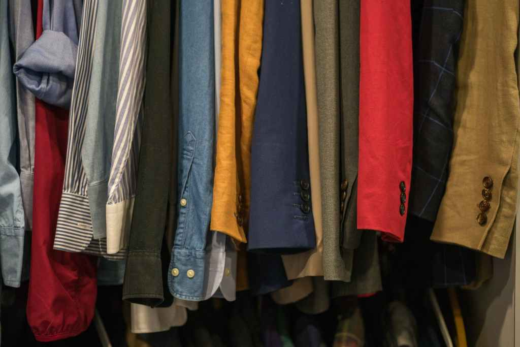A rack of clothes at one of Clayton's locally owned businesses.