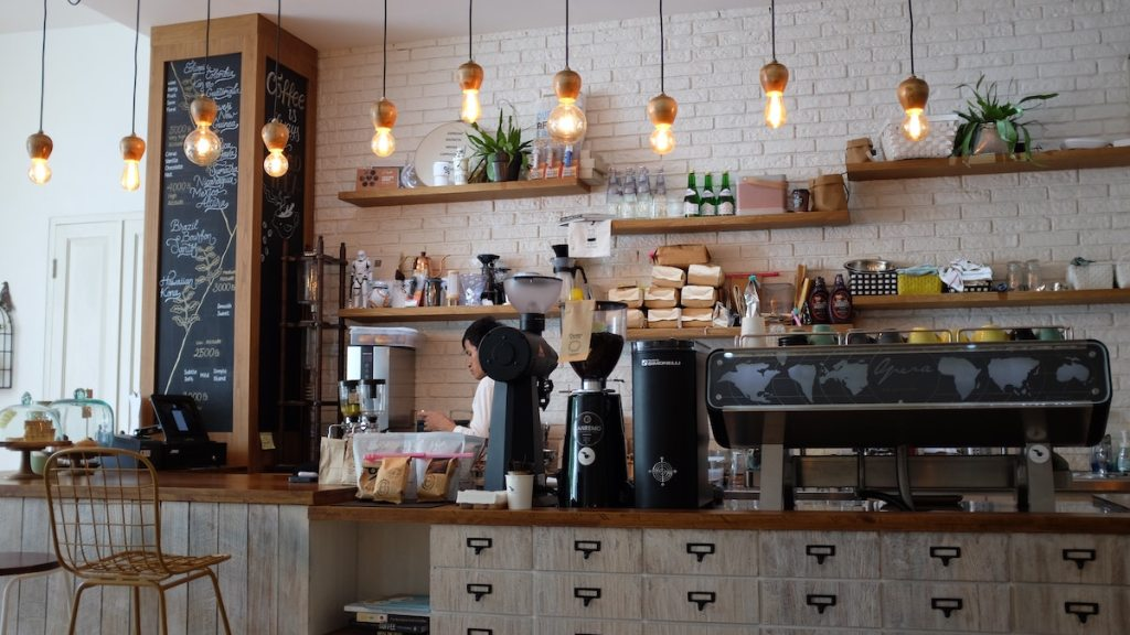 Coffee shop in a planned community