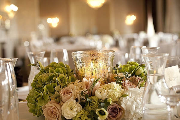Silver Wedding Table Centrepieces
