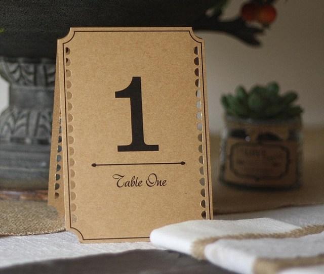 Best Rustic Wedding Table Numbers Ideas Brown Kraft Card Wedding Table Numbers