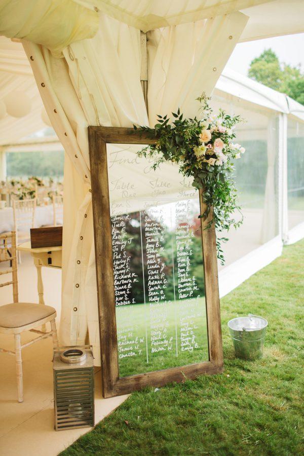marquee wedding decorations mirror wedding table plan