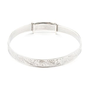 Sterling Silver Ornate BABY Bangle Things Engraved