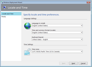 Specify locale and time preferences