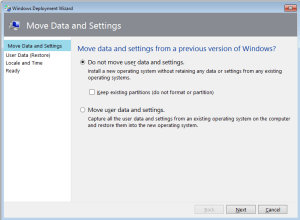move user data and settings