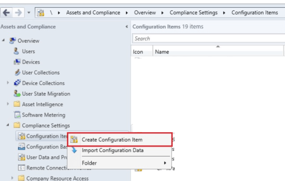 Create Configuration Item