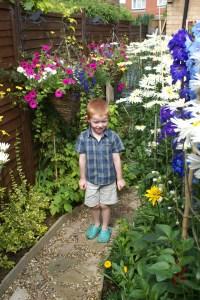 Reuben exploring the secret path that Daddy built