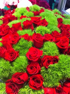 Mix and match 'Green Trick' Dianthus with lovely red Roses
