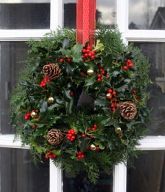 Top tip: Cut holly stems to make Christmas decorations