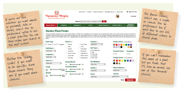 Innovative new online plant finder tool from Thompson & Morgan