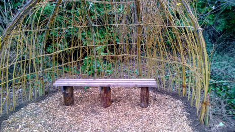Making a willow dome seating area