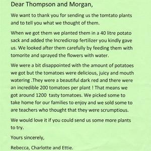 Letter from St Mary's School Woodbridge
