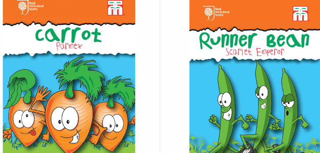 RHS Kids Collection Carrots & Runner Beans