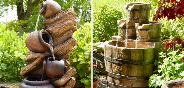 Jug water feature & tub water feature