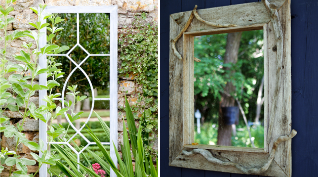 Garden mirrors a window to another dimension!