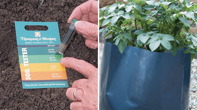 Ph tester kit & potato growing bags
