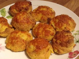 Parsnip scones ready to eat