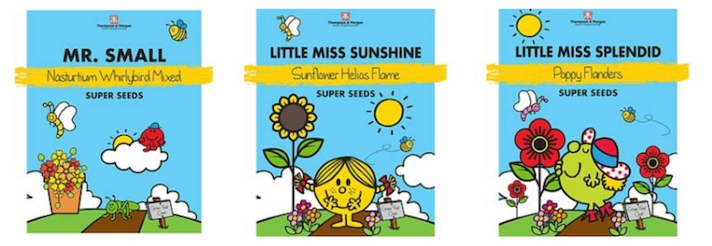 Mr Men & Little Miss Flower Seeds from Thompson & Morgan