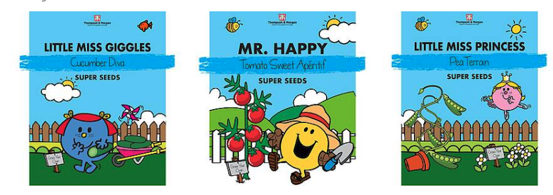 Mr Men & Little Miss Veg Seeds from Thompson & Morgan