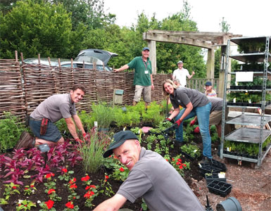 the RHS team at the floral fantasia