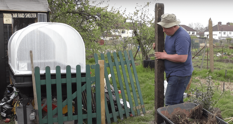 Sean from Diary of a UK Gardener on his allotment