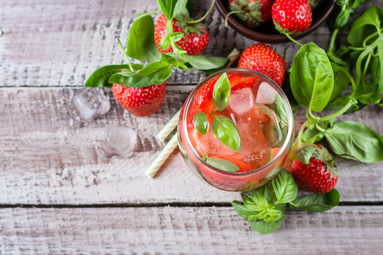 strawberry and basil cocktail