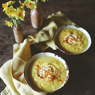 Carrot and Saffron Soup from Crofters Cottage