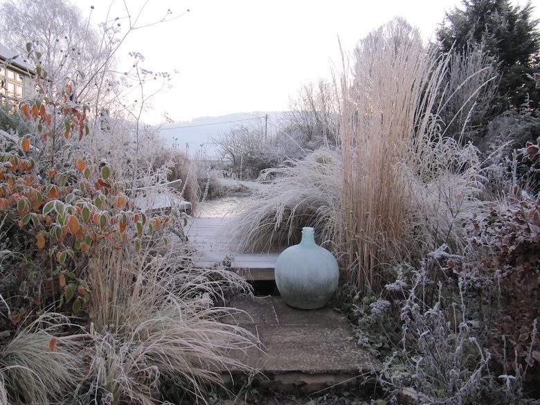 Winter garden scene from Cheryl Cummings