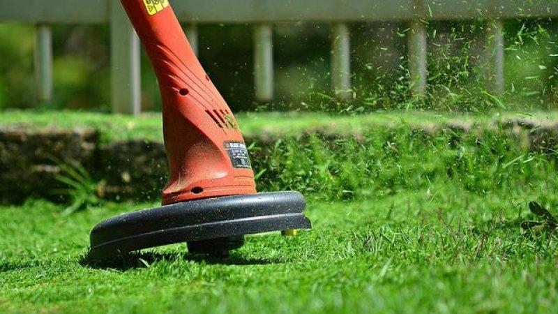 como cortar a grama