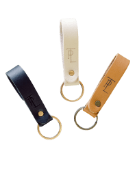 Leather keychain with TPL monogram from Those Plant Ladies. Comes in three colors: black, ivory, and cognac.